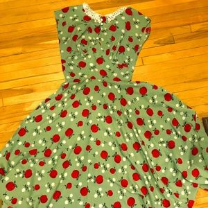 Green Hell Bunny Vixen Apple Dress
